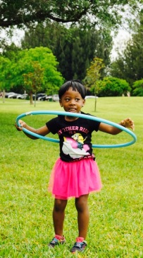 Hula Hoops brought life to the party, this princess enjoyed herself!